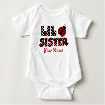 Little Sister Ladybug Personalized T-shirt