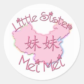 Little Sister Mei Mei Chinese Round Sticker