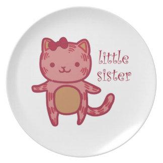 Little Sister Melamine Plate