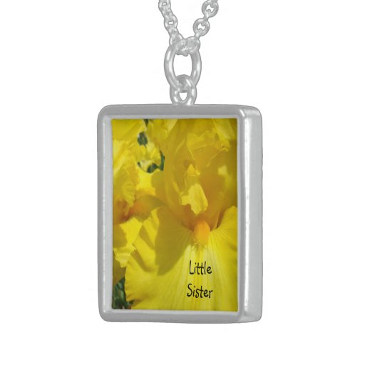 Little Sister necklace Sisters Yellow Irises Sis