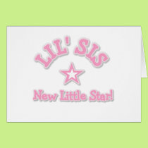 Little Sister New Little Star Card