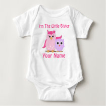 Little Sister Owl Personalized T Shirt