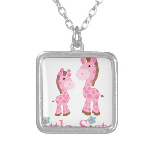 Little Sister Pink and Brown Giraffes Jewelry