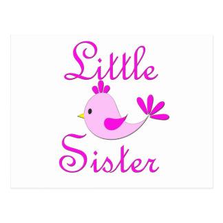 Little Sister Pink Bird Postcard