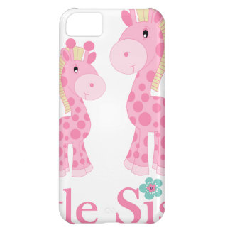 Little Sister Pink Giraffes Cover For iPhone 5C