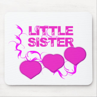 Little Sister( Pink Hearts) Mouse Pad