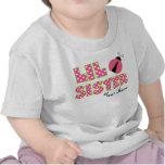 Little Sister Pink Ladybug Personalized T-Shirt