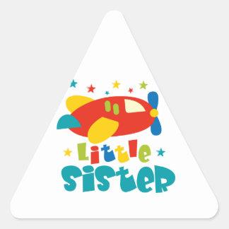 Little Sister Plane Triangle Sticker