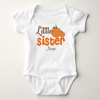 Little Sister Pumpkin Personalized Shirt