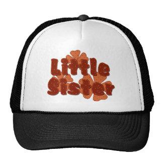 Little Sister Retro Flowers Orange Trucker Hat
