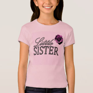 Little Sister Rose Design T-Shirt