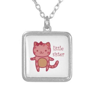 Little Sister Square Pendant Necklace
