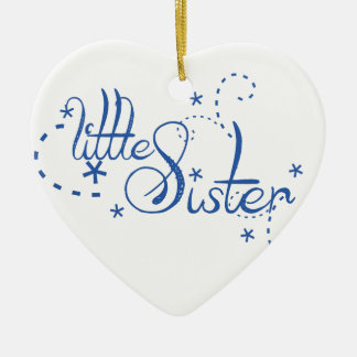 Little Sister Swirls Ceramic Ornament