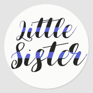 Little Sister Thin Blue Line Sticker Hospital Baby