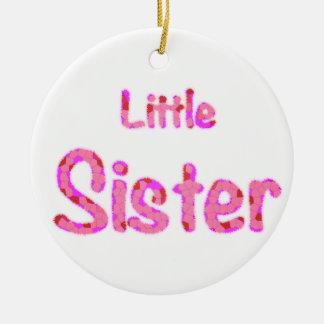 Little Sister Typography Ceramic Ornament