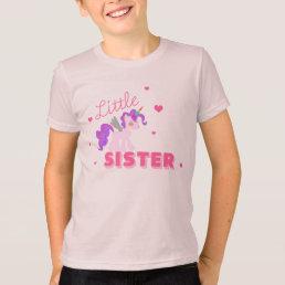 Little SISTER UNICORN SHIRT CUTE Big Sister Tshirt