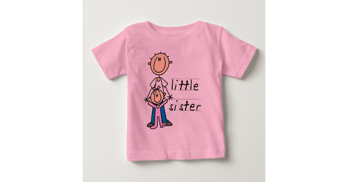 Little Sister With Big Brother T Shirts And Gifts Zazzle Com
