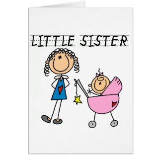 Little Sister With Big Sis Tshirts Greeting Card