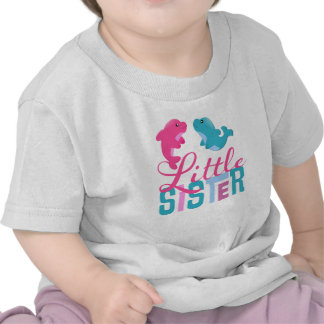 Little sister with dolphins infant t-shirt