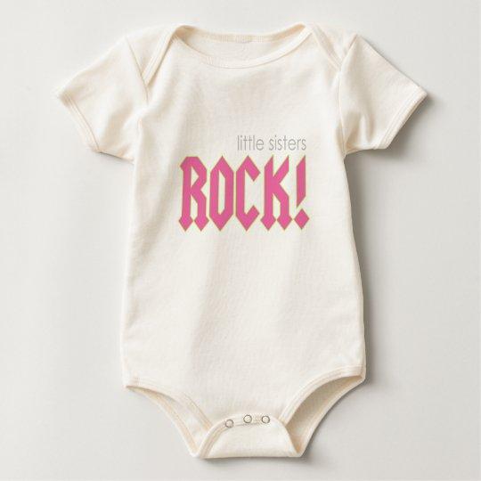 Little Sisters Rock! Baby Bodysuit