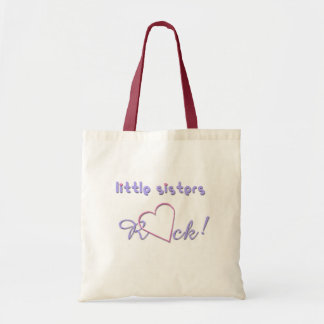 Little Sisters Rock Hearts Budget Tote Bag