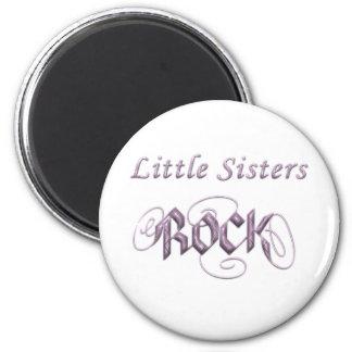 Little Sisters Rock Refrigerator Magnet