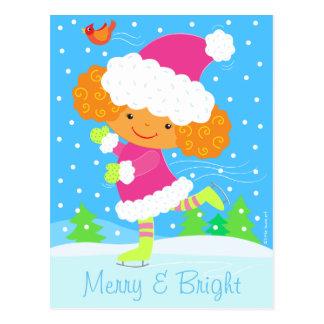 little skater holiday postcard