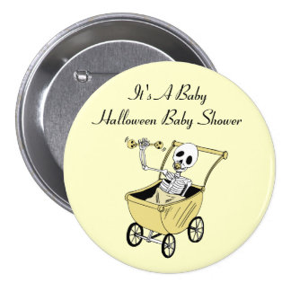 Little Skeleton Baby Shower Pin Buttons