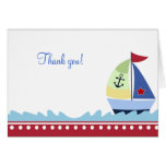 Little Skipper (Red) Folded Thank you notes Stationery Note Card