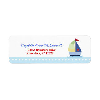 Little Skipper Sailboat Custom Address Labels
