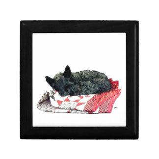 Little Sleeping Scottie Dog Box Trinket Boxes
