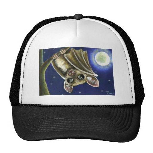Little sleepy bat trucker hats