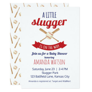 Little Slugger Baby Shower Card