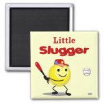 Little Slugger Baseball Smiley Fridge Magnet