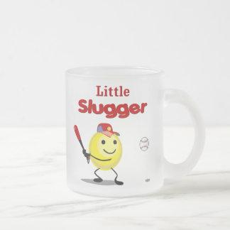 Little Slugger Baseball Smiley Frosted Glass Coffee Mug
