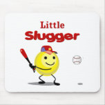 Little Slugger Baseball Smiley Mousepads