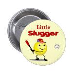 Little Slugger Baseball Smiley Pin