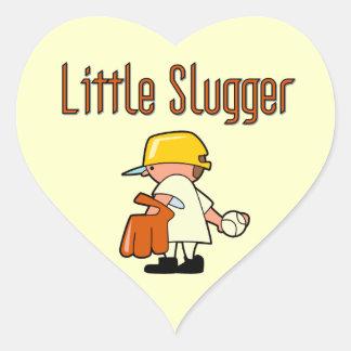 Little Slugger Baseball T-shirts and Gifts Heart Sticker