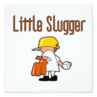 Little Slugger Baseball T-shirts and Gifts 5.25x5.25 Square Paper Invitation Card