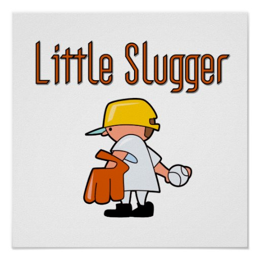 Little Slugger Baseball T-shirts and Gifts Poster