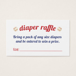 Little Slugger Diaper Raffle Cards