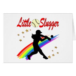 LITTLE SLUGGER GIRLS SOFTBALL DESIGN CARD