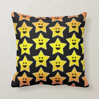 Little smiley stars throw pillow