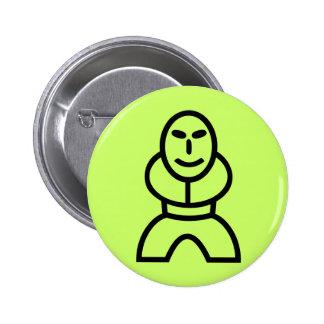 Little smiling man button