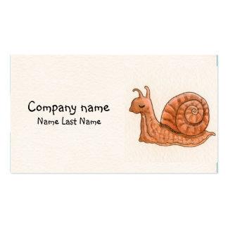 Little snail Personal Business Card Template.