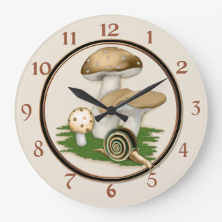 Little Snail Secret Garden Large Clock