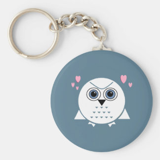 LITTLE SNOW OWL Keychain