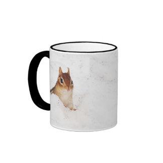 Little Snowbound Chipmunk Ringer Mug