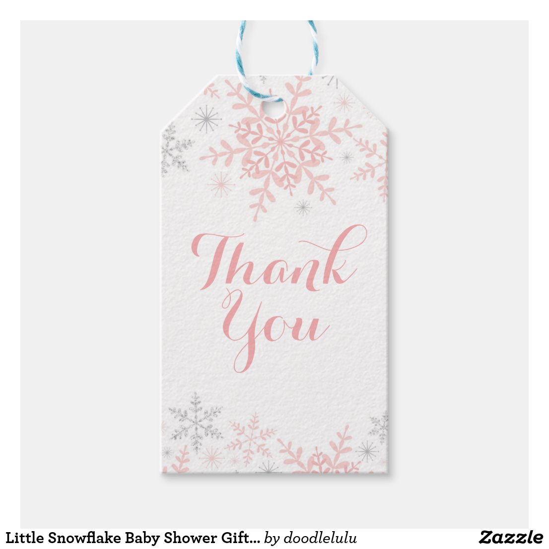 Little Snowflake Baby Shower Gift Tag