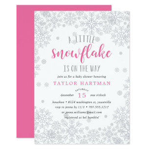 Snowflake baby shower invitations zazzle little snowflake baby shower invitation filmwisefo